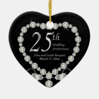 25to Ornamento del aniversario de boda