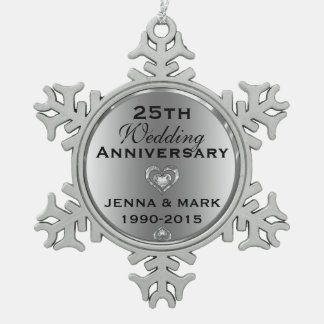 25to ornamento del aniversario de boda de la plata