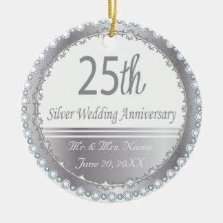 25to Ornamento del aniversario de bodas de plata Ornamento Para Reyes Magos