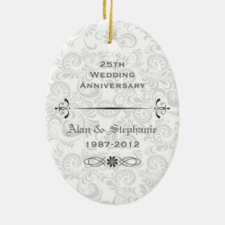 25to Ornamento del día de fiesta del aniversario Adorno De Reyes