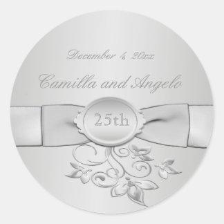 25to Pegatina del aniversario de boda
