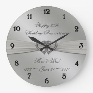 25to reloj de pared del aniversario de boda de la