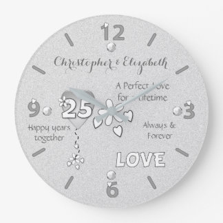 25to reloj del aniversario de la bodas de plata