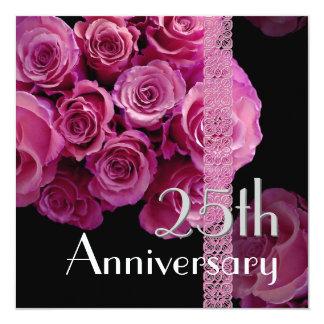 25to Rosas de plata del ROSA de la invitación del