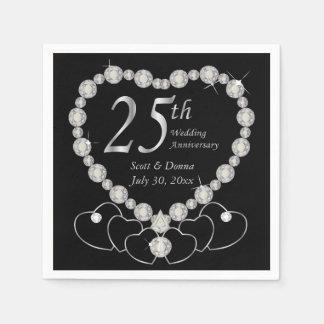 25to Servilletas de la fiesta de aniversario de la Servilleta De Papel