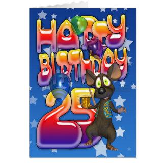 25to Tarjeta de cumpleaños, feliz cumpleaños