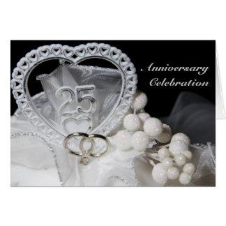 25to Tarjeta de la celebración del aniversario de