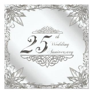 25to Tarjeta de la invitación del aniversario de