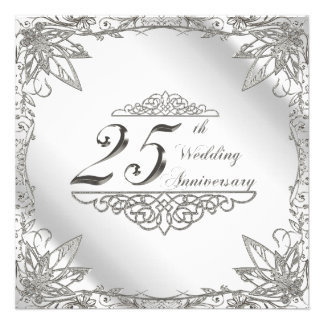 25to Tarjeta de la invitación del aniversario de b