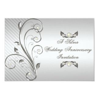 25to Tarjeta de RSVP del aniversario de boda Comunicados Personalizados