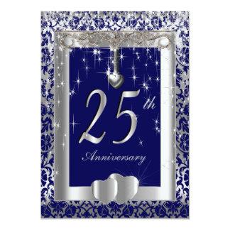 25to Texto del aniversario de bodas de plata el | Invitación 12,7 X 17,8 Cm
