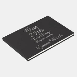 25to Tipografía de la plata del negro del Libro De Visitas