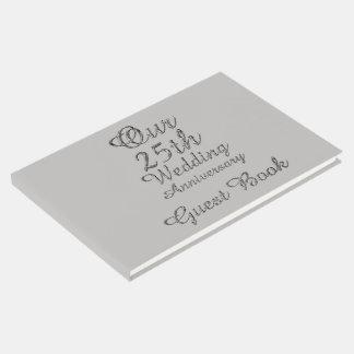 25to Tipografía de los gris plateados del Libro De Invitados