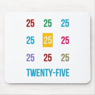 25tos 25 vigésimos quintos REGALOS del aniversario Alfombrilla De Ratón