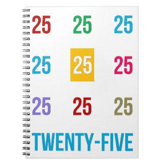 25tos 25 vigésimos quintos REGALOS del aniversario Cuaderno