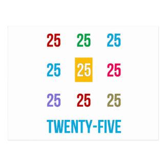 25tos 25 vigésimos quintos REGALOS del aniversario Postal