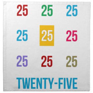 25tos 25 vigésimos quintos REGALOS del aniversario Servilleta De Tela