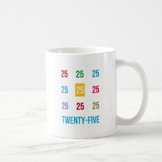 25tos 25 vigésimos quintos REGALOS del aniversario Taza De Café