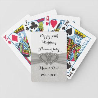 25tos naipes del aniversario de boda del damasco