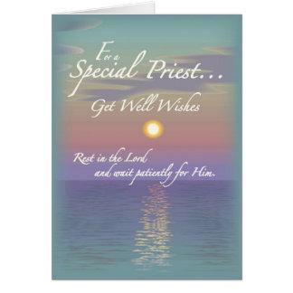 2627 consiga al sacerdote bien de los deseos tarjeta de felicitación