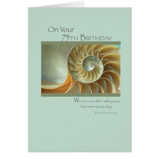 2689   75.o cumpleaños Shell espiral Tarjeta De Felicitación