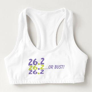 26,2 divertidos o busto - corredor de maratón 26,2 sujetador deportivo