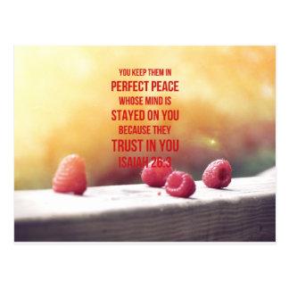 26:3 perfecto de Isaías de la paz Postal