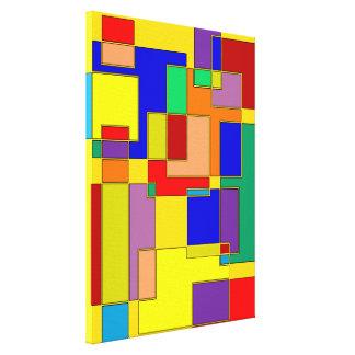 #26 abstracto impresión en lienzo