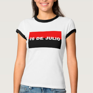 26 de julio cuba camiseta