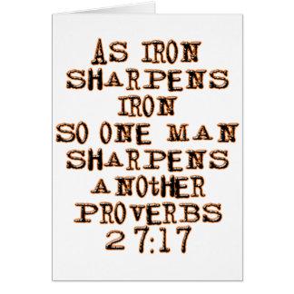 27:17 de los proverbios felicitación