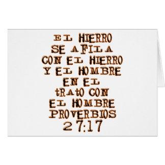 27:17 de los proverbios tarjetas