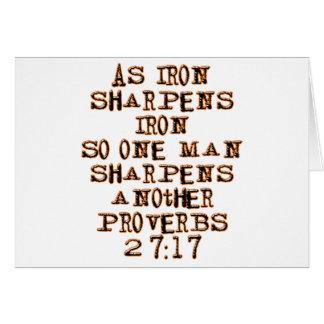 27:17 de los proverbios tarjeta de felicitación