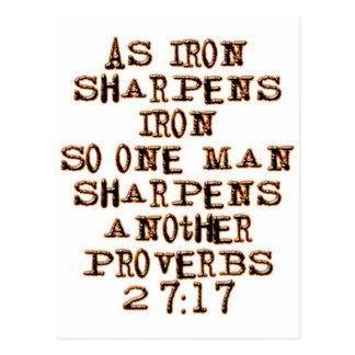 27:17 de los proverbios postal