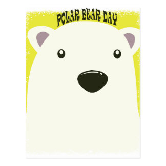 27 de febrero - día del oso polar postal