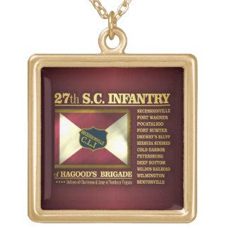 27mo Infantería de Carolina del Sur (BA2) Colgante Cuadrado