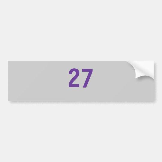 27mo triunfo de la serie de mundo de Nueva York Pegatina Para Coche