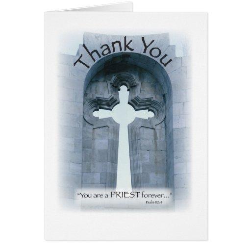 2826 gracias cruz del sacerdote tarjeta