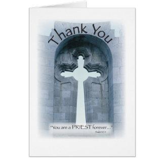 2826 gracias cruz del sacerdote tarjeta de felicitación