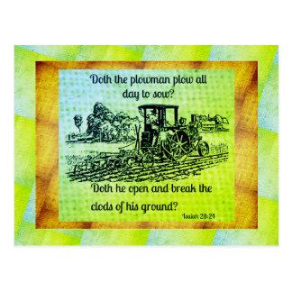 28:24 de Isaías de la granja del vintage del Postal