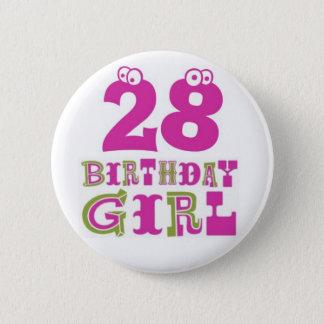 28vo cuarto Insignia del botón del chica del