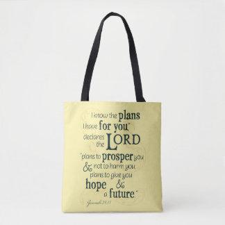 29:11 de Jeremiah sé los planes que tengo para Bolso De Tela