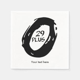 29er más la bici servilleta desechable