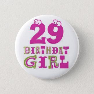 29no Insignia del botón del chica del cumpleaños