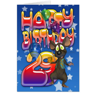 29no Tarjeta de cumpleaños, feliz cumpleaños