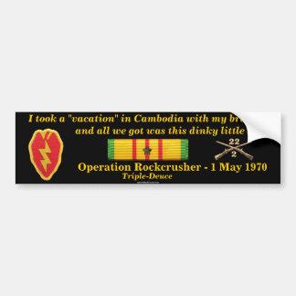 2/22o Vacaciones del camboyano de la infantería Pegatina Para Coche