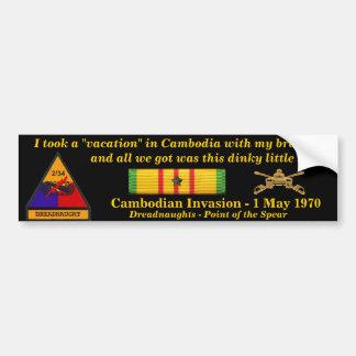 2/34o Vacaciones del camboyano de la armadura Pegatina Para Coche
