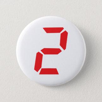 2 despertador de dos rojos digital chapa redonda de 5 cm