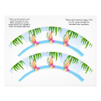 2 envolturas de encargo hawaianas tropicales de la flyer personalizado