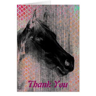 2 equinos, gracias tarjeta de felicitación