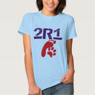 (2 especies 1 pensadas) camiseta 2R1 para los
